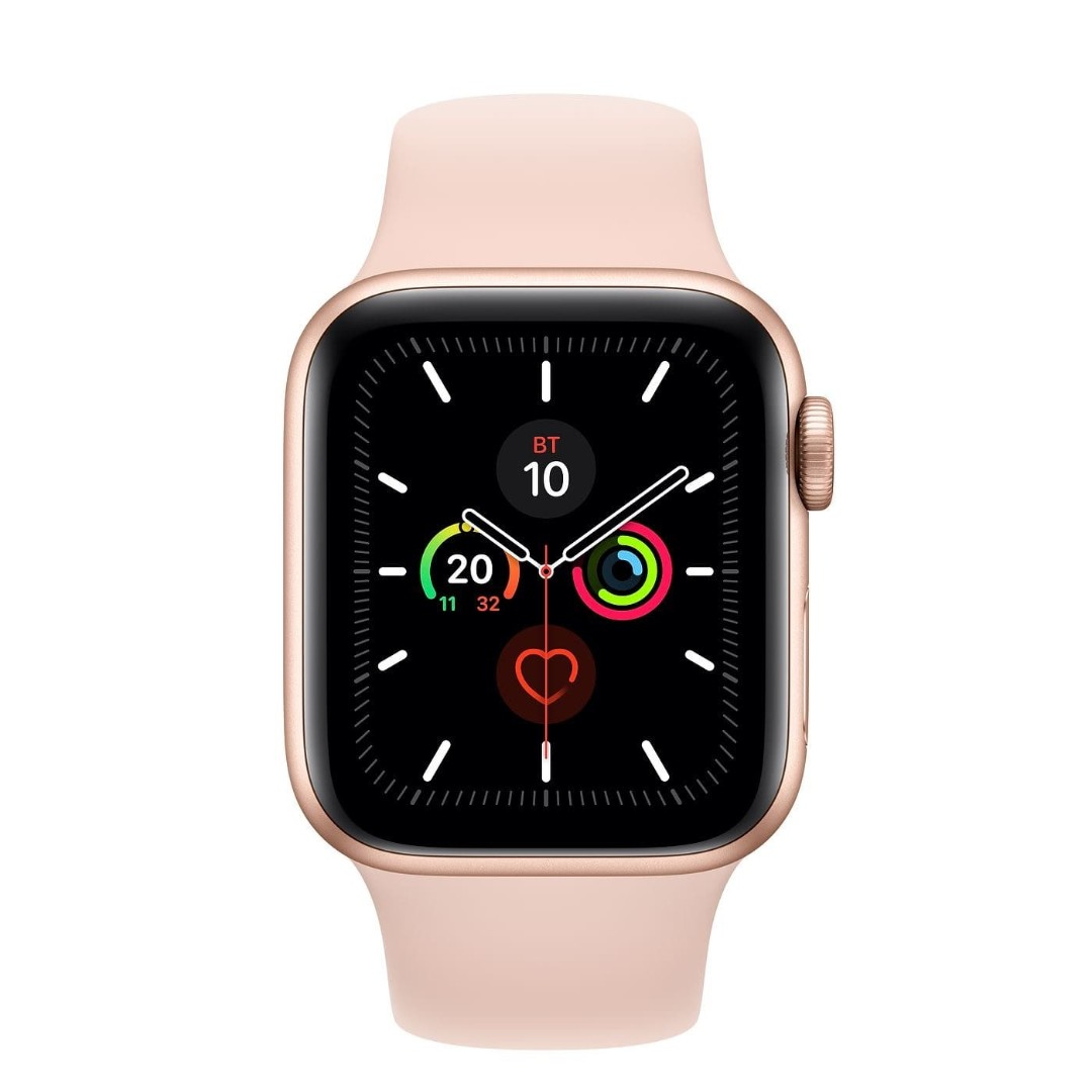 Apple Watch Series 5 44mm Gold Aluminum Case with Pink Sand Sport Band картинка 2