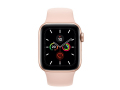 Apple Watch Series 5 44mm Gold Aluminum Case with Pink Sand Sport Band слайд 2