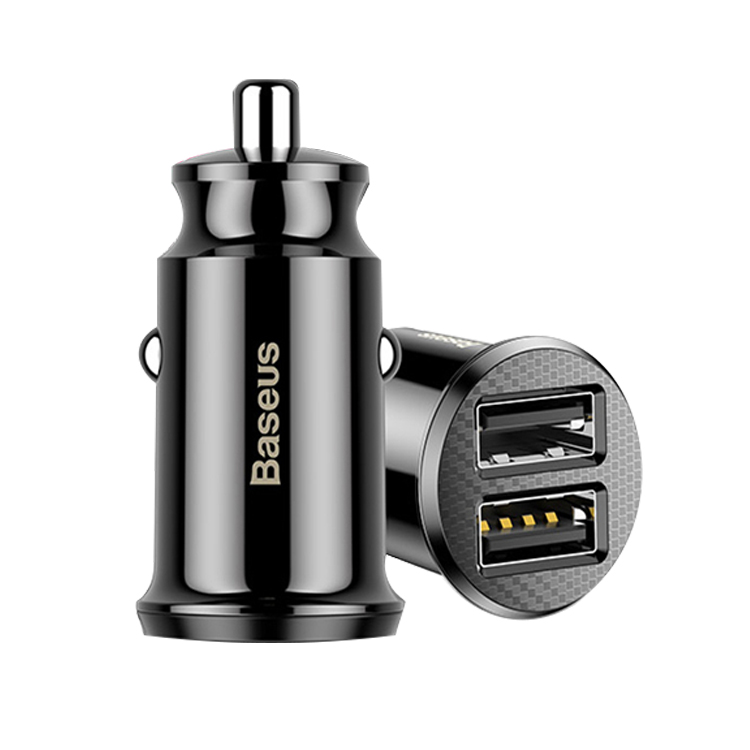 Автомобильное ЗУ Grain Car Charger черный Baseus картинка 1